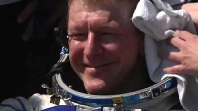 Tim Peake returns