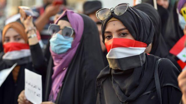 متظاهرات في العراق