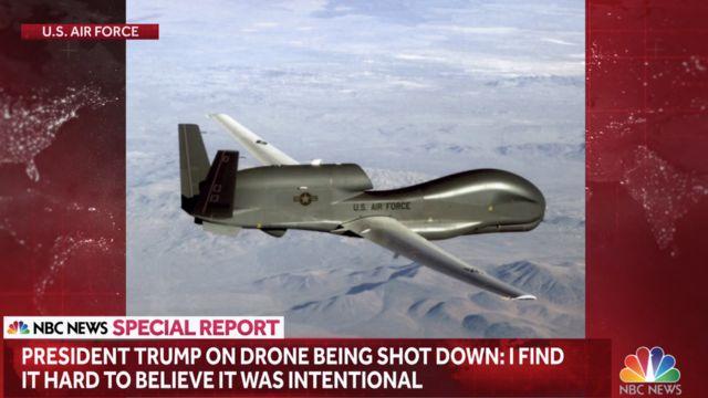 شبکه انبیسی ویدئویی که بسیار ناواضح است منتشر کرده و میگوید پنتاگون این ویدئو را از لحظه هدف قرار گرفتن پهپاد منتشر کرده است
