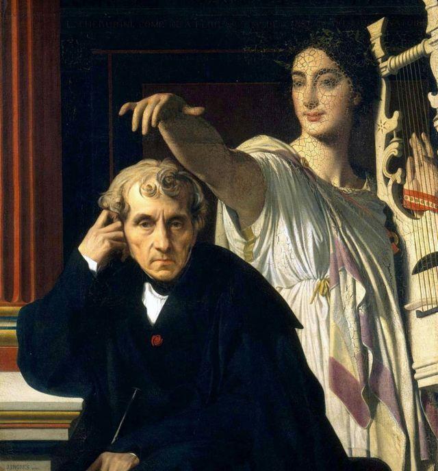 Luigi Cherubini y la musa de la poesía lírica, 1842. Museo del Louvre, París.