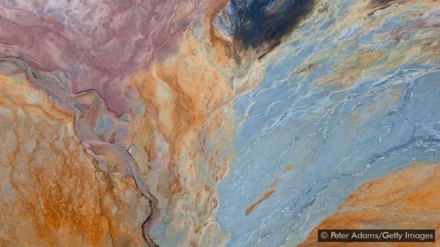 Área de mineração do Rio Tinto, na província de Huelva, na Espanha