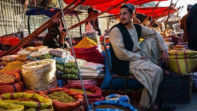 Kandahar'da bir tüccar