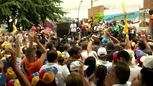 Opposition protestors in Caracas