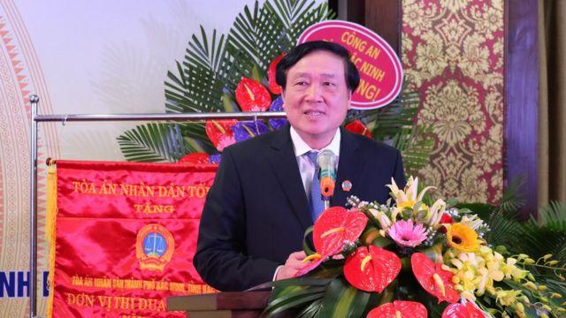 Ông Nguyễn Hòa Bình hiện là Chánh án TAND tối cao ở Việt Nam