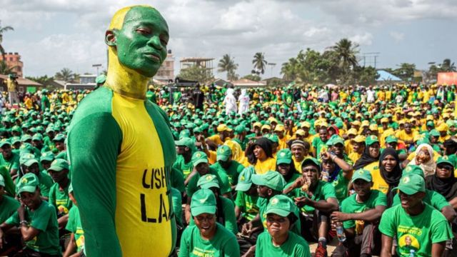 Supporters of the CCM party