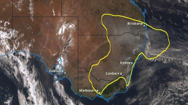 Peta dari Biro Meteorologi