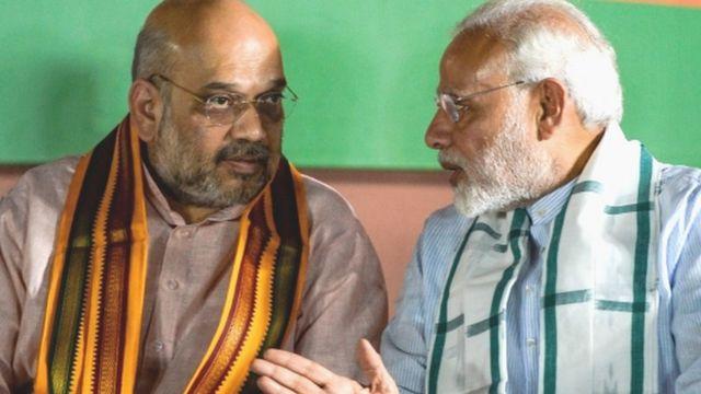 నరేంద్ర మోదీతో అమిత్ షా