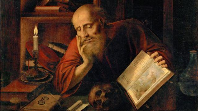 Una pintura de San Jerónimo