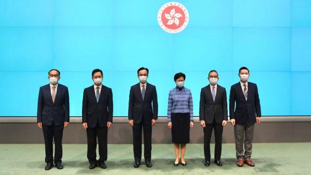 林鄭月娥與其他政府官員合照(22/4/2020)