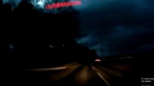 footage of possible meteor over Aberdeenshire