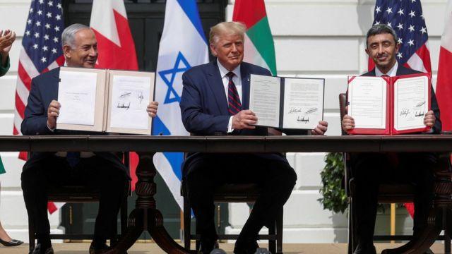 توقيع اتفاق التطبيع بين الإمارات وإسرائيل