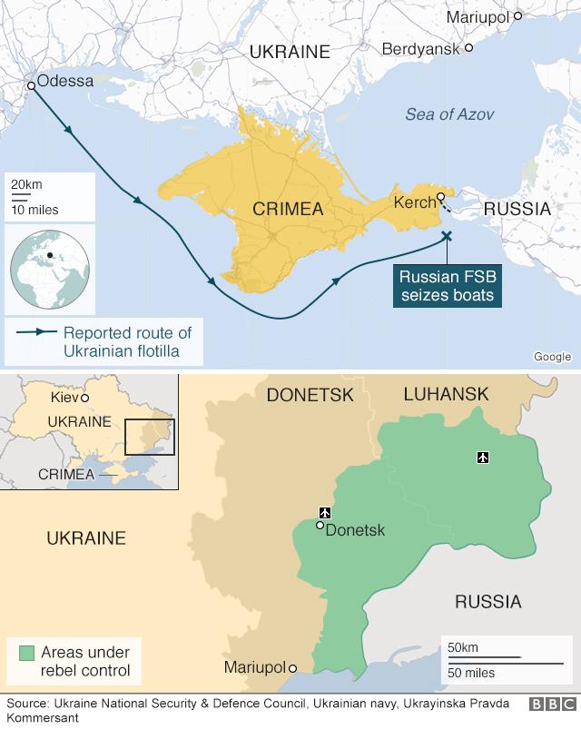 Russia-Ukraine tensions rise after Kerch Strait ship capture