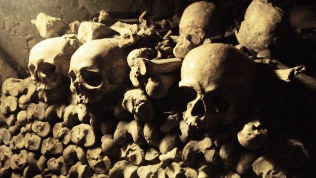 Restos de la época de la peste negra