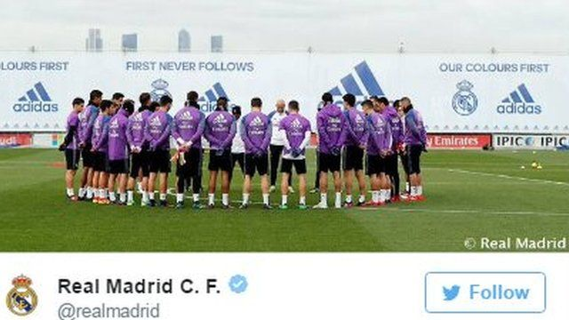 picture of real madrid holding minute's silence
