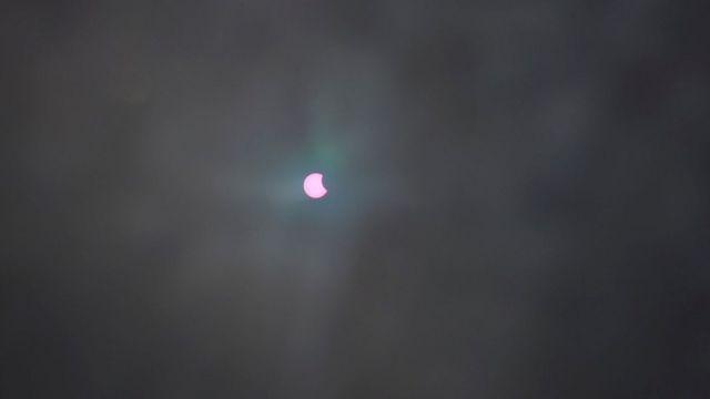 काठमाण्डूको कीर्तिपुरबाट देखिएको सूर्य ग्रहण