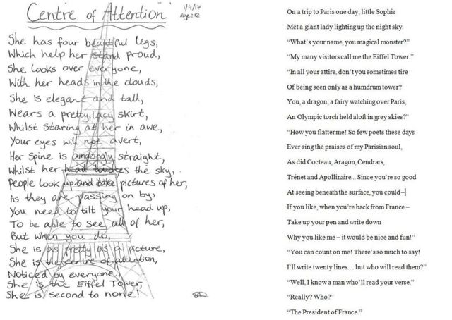 شعرهای امانوئل مکرون و سوفی