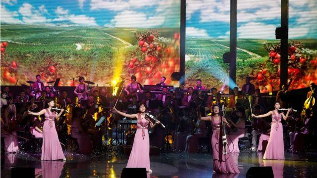 2018年2月,韩国举行冬奥会期间朝鲜三池渊乐团前往演出。