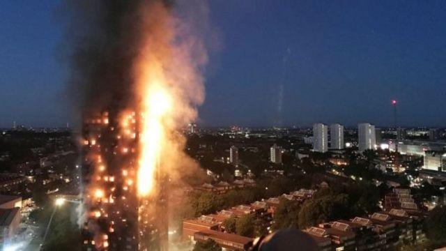 горящее здание
