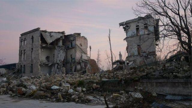 شهدت حلب تدميرا واسعا في الصراع في سوريا