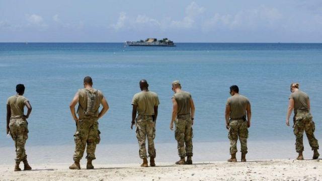 американські військові на Карибах