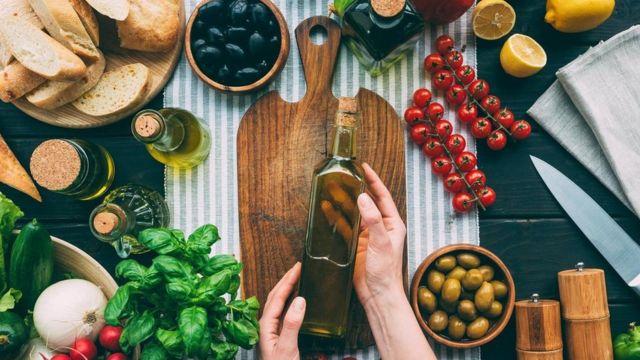Aceite de oliva y otras verduras