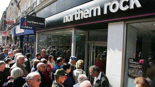 Corrida para retirar dinheiro do Northern Rock