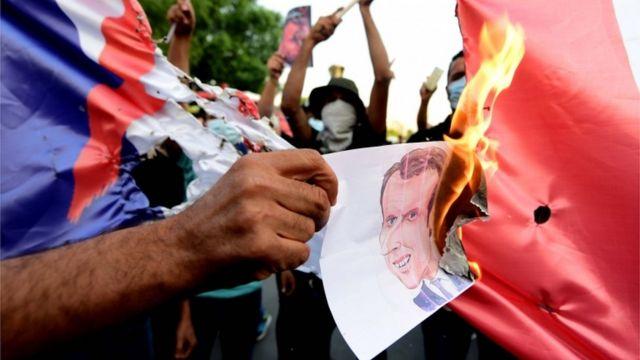 میکخواں اور فرانس کے خلاف عراق میں احتجاج
