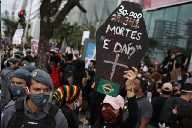 Protesto contra o governo