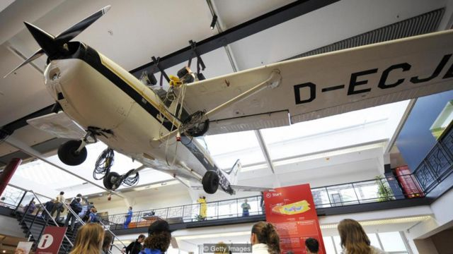 Rust's famous 172 now hangs from the ceiling of a German museum (Credit: Getty Images)