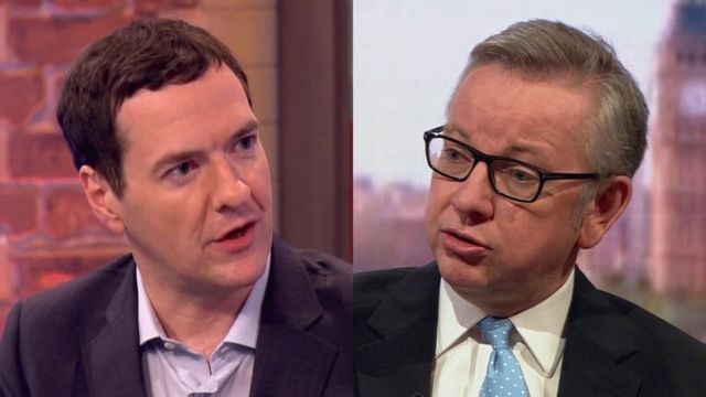 George Osborne on ITV's Peston on Sunday and Michael Gove on the BBC's Andrew Marr show