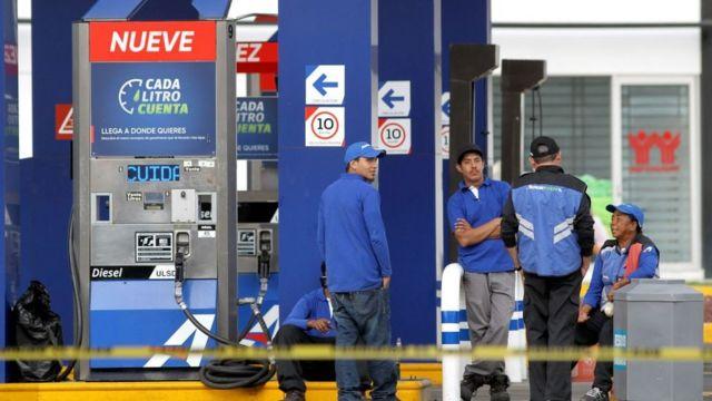 Gasolinera cerrada en JAlisco.