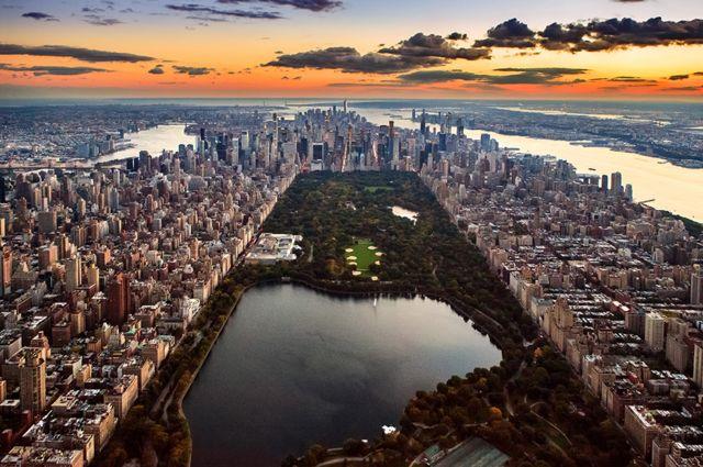 Vista aéra de Manhattan, Nueva York