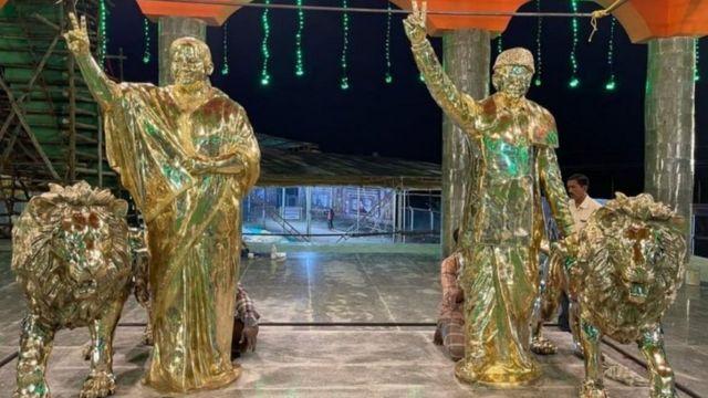 மதுரையில் எம்ஜிஆர் ஜெயலலிதா கோயில்: தேர்தல் நாடகமா?