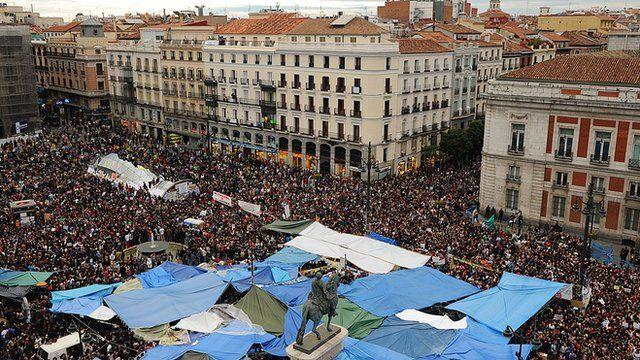 Protesto em Madri, em 2011