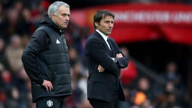 Mourinho, Conte, Chelsea, United