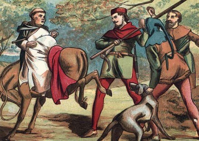 로빈후드의 활동을 묘사한 삽화