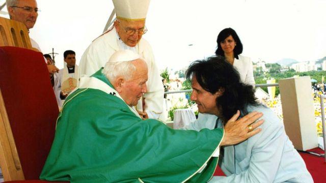 Roberto Carlos com Papa João Paulo 2º