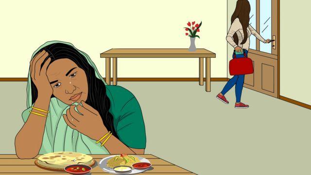 Salma quitte la maison alors que sa mère pleure
