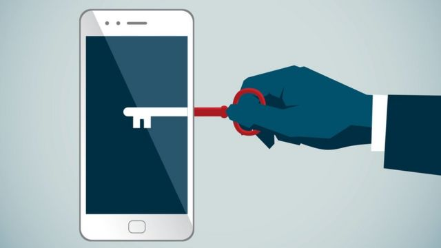 Ilustração de celular