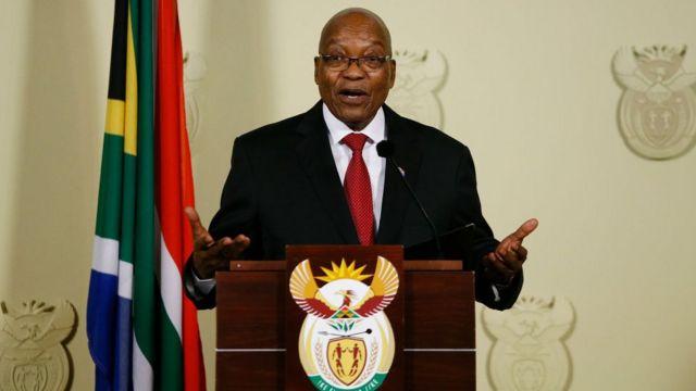 Jacob Zuma n sọrọ