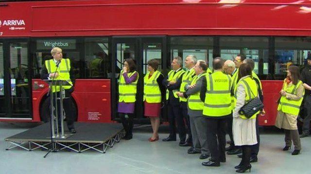 London Mayor Boris Johnson visited the factory on Monday