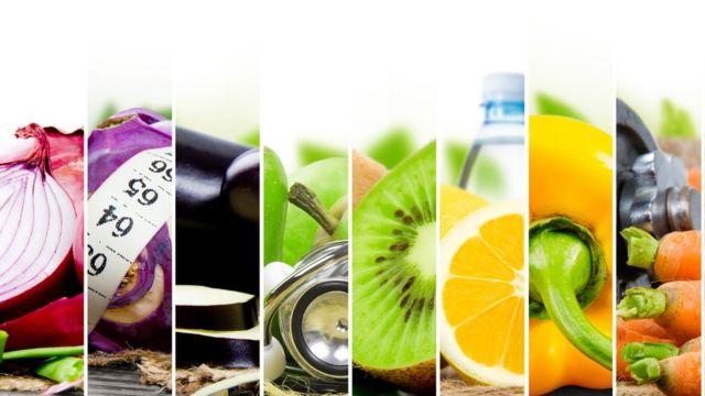 Fotos de verduras y frutas.