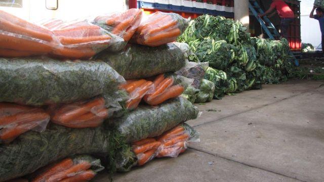Vegetales de Almilonga.