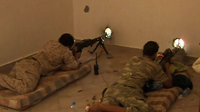 Snipers fire at 'Islamic State' positions