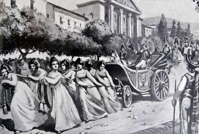 Entrada triunfal de Bolívar a Caracas