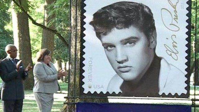 Elvis Presley stamp is unveiled at Graceland