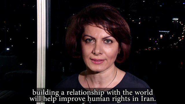 Iranian woman talking