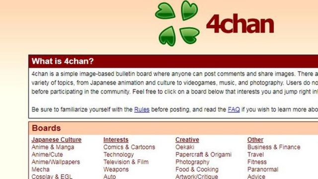 screenshot of 4chan