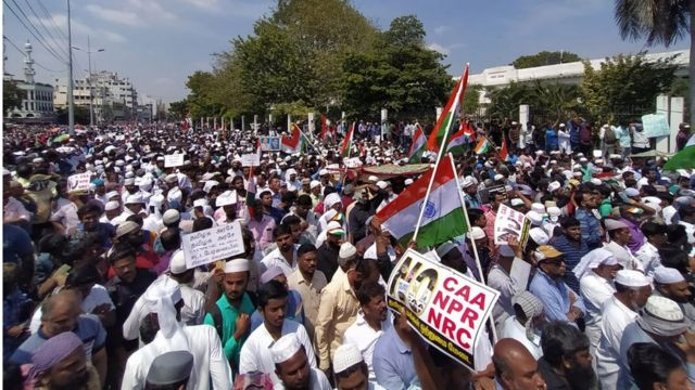 चेन्नई में मुसलमानों का प्रदर्शन