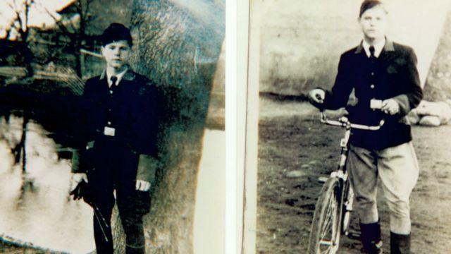 Станіслав Хржановський у формі поліції, яку створили німці. До неї входили місцеві жителі